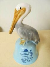 Louisiana Vintage Glass Bell with Pelican
