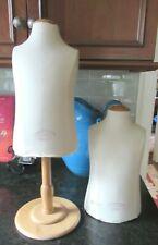 """Set 2 Vendome Paris Mannequin Dress Form Female Torso Stand Tabletop Jewelry 13"""""""