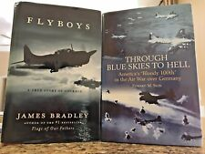Flyboys Signed by James Bradley Through Blue Skies to Hell Ed Sion 2 Book Lot