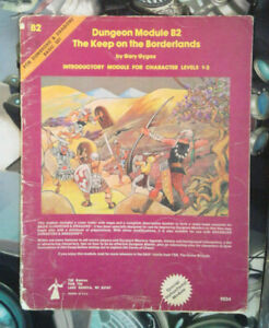 B2 THE KEEP ON THE BORDERLANDS DUNGEONS & DRAGONS TSR 9034 1ST PRINT Complete