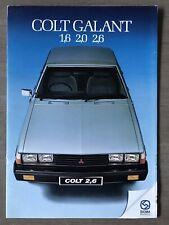 1982 Mitsubishi Colt Galant original South African sales brochure