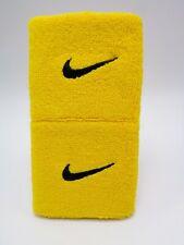 """Nike Swoosh Wristbands Amarillo/Black 3"""" Men's Women's"""