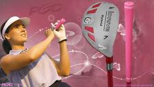 """Senior Ladies iDrive Pink Golf Club Hybrid #7 Rescue Utility """"Senior"""" Flex Club"""
