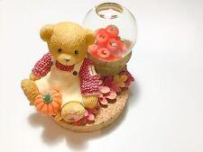 Enesco Cherished Teddies Candle Topper Waterball Priscilla Hillman Fall Harvest