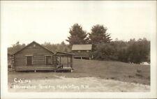 Hopkinton NH Cabins at Horseshoe Tavern c1920s Real Photo Postcard #3
