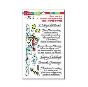 Snowman Wishes Cling Stamps Words,Sentiments,Christmas,Stampendous stamp set