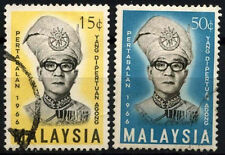 Malaysia 1966 SG#33-4 Yang Di-Pertuan Agong Used Set #D46622