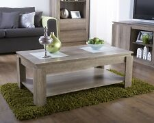 MODERN WOOD CANYON OAK COFFEE TABLE LIVING ROOM FURNITURE SHELF CENTRE UNIT