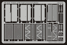 PE parts for T-55A grill and armoured plates (TAMIYA),1/35, Eduard, TP043