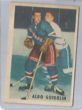 "1953-54 Parkhurst Hockey Aldo Guidolin Card # 66 Vg-Ex Condition ""B"""