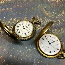 - Majestron (Quartz) and Luxury (Handwinding) Lot of 2 Modern Pocket Watches