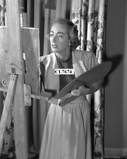 Joan Crawford Painting at Her Home in Los Angeles Photo