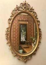 ORNATE Vintage GOLD Framed WALL Mirror 43cm x 71cm  OVAL QZZQ Adelaide