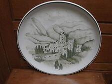 Piatto ceramica CASTELLO DI AVIO TN dipinto a mano 1980 FAI