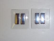 b5307p Vietnam Us Air Force Captain Rank metal bars with plastic cover pair B3D7