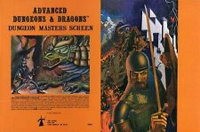 DUNGEON MASTERS SCREEN QUAD-FOLD EXC+! 2nd PRT 9024 Dungeons Dragons Guide D&D