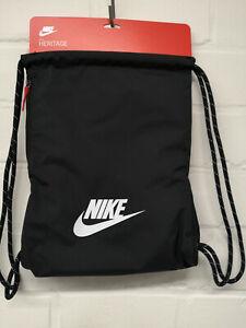 Nike Sportbeutel Gymsack Heritage 2.0   BA5901-010    in Schwarz mit Logo