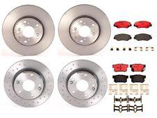 Front Rear Brembo Brake Kit Disc Rotors & Ceramic Pads For Acura ILX Honda Civic