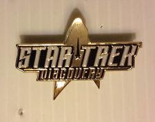 "Star Trek Discovery Logo 2"" Wide Cloisonne Pin- FREE S&H (STPI-DISC)"