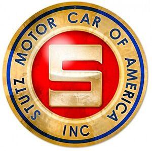 Stutz Motor Auto Of America Inklusive Rund Stahl Schild 360mm Durchmesser (Pst)