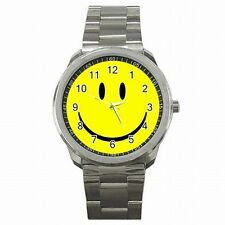Smiley Face Famous Happy Groovy Smile Accessory Stainless Steel Watch