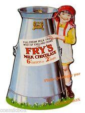 Plaque en métal Full Cream FRY's MILK CHOCOLATE pub ancienne stick advertising