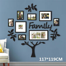Family Tree Photo Acrylic Frame Picture Collage Sticker Wall Mount Home Decor