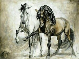 """Horse Picture Abstract CANVAS WALL ART 20""""X30"""""""