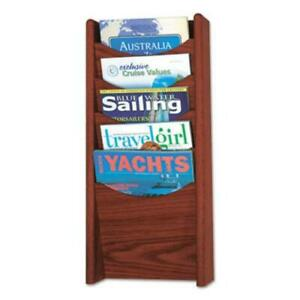 Safco 4330MH Solid Wood Wall-mount Literature Display Rack, 11.25w X 3.75d X