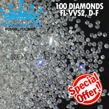 100% Natural Loose Round Single Cut 100 Diamonds FL-VVS D-F(White) Real Polished