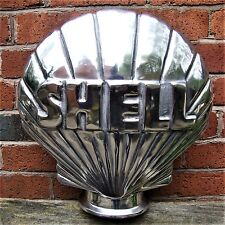 Shell Petrol Pump Globe Aluminium Cast Oil Vintage Garage double sided VAC219