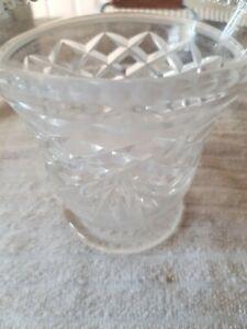 BEAUTIFUL CUT GLASS VASE/ BOWL