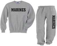 sweatsuit US United States Marines Military Sweat Shirt and sweatpants SM TO 3XL
