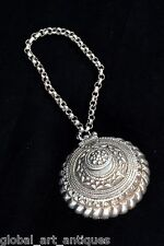 Antique Collectible Original Silver Indian Snuff/Tobacco Box With Chain.G10-52