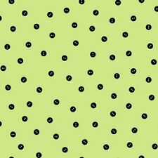 QT Sewing Seeds II 20992 H Lt Lime Baby Button Dot COTTON BTY