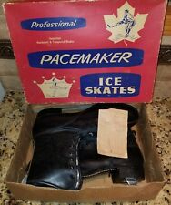 """PACEMAKER"" Men's Size12 Ice Skates Hardened Tempered ""Sheffield Steel"" Blades ."