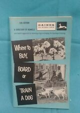 Where to Buy, Board, or Train a Dog 1970 vintage BOOK by General Foods Gaines