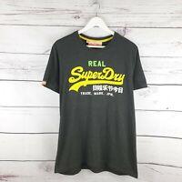 Superdry Mens Real Vintage Dark Charcoal Grey TShirt Size XL