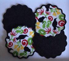 4 Pieces NZ Kiwiana Fabric Drink Mug Rug Coaster Reversible