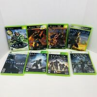 Halo Combat Evolved Halo 2 3 4 Halo Reach Halo Wars Microsoft Xbox 360 Lot Of 8