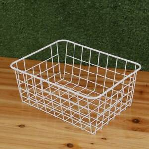 1pc Iron Storage Basket Metal Wire Mesh Bathroom Basketry kitchen Tray