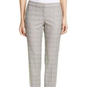Lafayette 148 New York Womens Plaid Slim Fit Mid-Rise Pants BHFO 9367