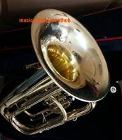 TUBA IN EB PITCH  OF PURE BRASS METAL  IN GOLD POLISH + HARD CASE +FREE SHIPPING