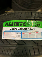 1 New 285 30 20 Delinte Thunder D7 Tire
