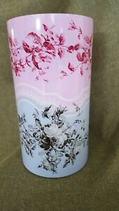 "Fringe Studio ~ ""Gray Rose"" Contemporary Art Glass Vase ~ # 408002 ~ Collectible"
