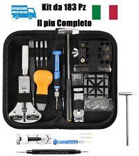 Kit Riparazione Orologi Orologiaio Professionale Ripara Orologio Set da 183 Pz