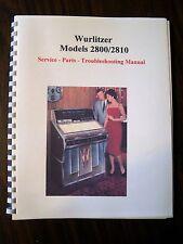 Wurlitzer Model 2800 Jukebox Manual