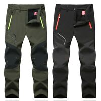 New Outdoor Winter Men's Warm Hiking Pants Waterproof Climbing Walking Trousers
