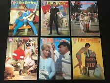 Six Original Vintage ABC Film Review Magazines July-December 1962 (With ERROR)