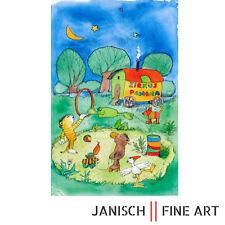 """JANOSCH """"die Nacht ist blau, es scheint der Mond"""" handsigniert, Auflage 99, 2013"""